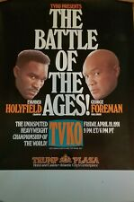 Evander Holyfield vs George Foreman pay per view poster
