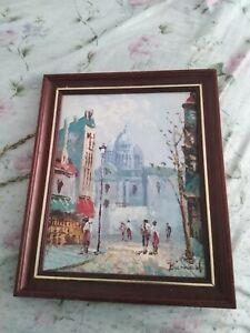 Vintage oil painting by Burnett
