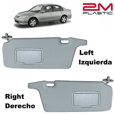 2001 2002 2003 2004 2005 Honda Civic Sun Visor Left + Right GRAY 2MPLASTIC