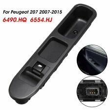 Electric Window Control Switch With Frame 6490HQ 6554HJ Black For Peugeot 207