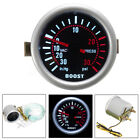 "Car Auto 2"" 52mm Universal LED Digital Smoke Len 12V Turbo Boost PSI Gauge Meter"
