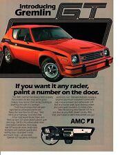 1978 AMC GREMLIN GT ~  CLASSIC ORIGINAL PRINT AD