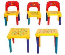 ABC Alphabet Plastic Table And Chair Set For Kids Children Toddlers XMAS Gift