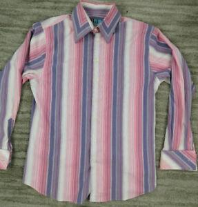 Roar Mens 3XL Striped Multicolor Button Front Shirt Long Sleeve