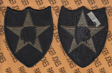Us Army 2nd Infantry Division Od Green & Black Bdu uniform patch m/e