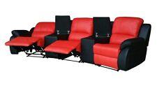 Leder Fernsehsessel Relaxsofa Kinosofa Heimkino 5129-Cup-3-8401-S