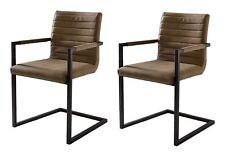 2 x Esszimmerstühle braun Freischwinger Schwingstuhl Stuhl ALESSIA BRANDNEU