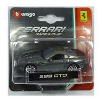 Bburago 56000 Ferrari 599 GTO grau metallic Maßstab 1:64 Modellauto NEU! °