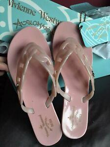 Vivienne Westwood Melissa Pink Flip Flops Size 37 / 4