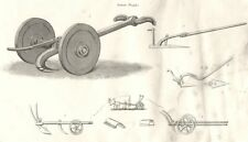 FARMING. Agricultural Implements; Roman Ploughs 1880 old antique print picture