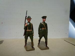 Britains recast or scruby, ww1 British infantry & officer, 54mm lead soldiers
