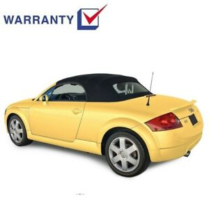 Audi TT 2000-2006 Convertible Soft Top With Glass Window Black Stayfast Cloth