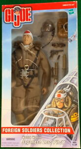 "G.I. Joe 2000 Foreign Soldiers Collection Japanese Zero Pilot WWII 12"" by Hasbro"
