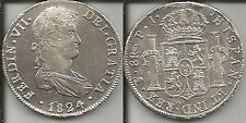 BOLIVIA 8 REALES 1824 PTS PJ FERDINANDO VII SPL