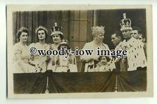 r0710 - King George VI , Queen Elizabeth , Cornation Day 1937 - postcard