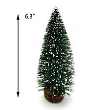 "Dollhouse Snowy Christmas Tree Room Decor Miniature Ornament 6.3"""