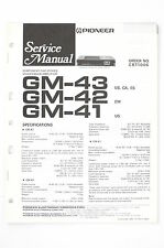 Pioneer GM-43/42/41 Car Stereo Amplifier Service Manual/Wiring Diagram/Diagram