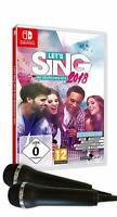 Switch - Bundle: Let's Sing 2018 mit Deutschen Hits + 2 Mics - (NEU & OVP)