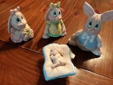 Ceramic Family Bunny- Dad, Mom, Sister and Baby Bunnies