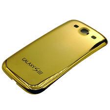 BACK COVER AKKU DECKEL FÜR SAMSUNG GALAXY S3 I9300 Chrom/ Gold