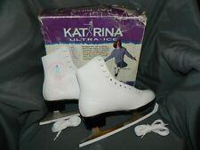 New Katarina Witt White Figure Ice Skates Womens Size 8 Us/ 7 Eu With Box