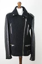 TOPSHOP Black Biker Jacket UK 12