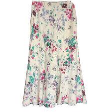 Per Una Ladies White Linen Floral  Shirt  Size 12 r ( J4)