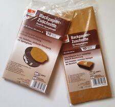 Backpapier a 10 Stück 26cm - 28cm Springform 42cm x 23cm Königskuchen *