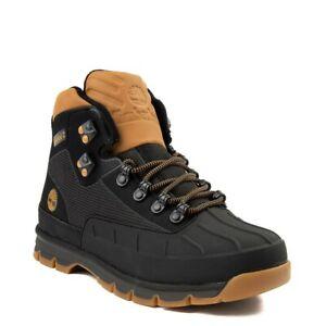 Brand NEW Mens Timberland Euro Hiker Shell-Toe Jacquard Boot Black Wheat