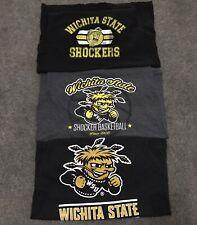 Three 3 Wichita St Shockers Shirts Medium (x2) Large (x1) GREAT Condition