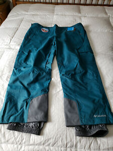NWT Columbia Men's Ridge 2 Run Ski Snow Pants Sz. 4XL New Blue  Omni Heat