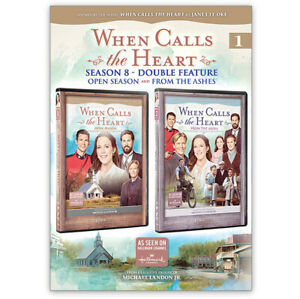 When Calls The Heart Season 8 DVD's 1 and 2 Double feature DVD Region 1/4