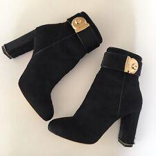 Salvatore Ferragamo Fur Black Women's Boots Size 6B