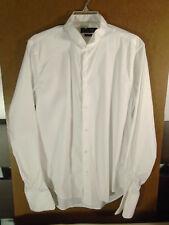 Men Zara Man Slim Fit White French Cuff Button Tuxedo Dress Shirt Large 16 - 34