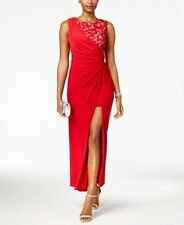 R & M Richards Asymmetrical Ruched Lace Dress Size 16 #B222 MSRP $99.00