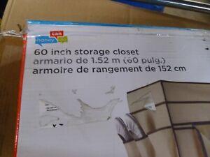 "WRD-01272 60"" Closet Wardrobe Clothes Shoe Storage Space Organizer Rack Hanging"