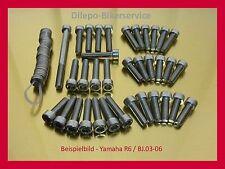 Yamaha yzf R 1/R 6/R 7 v2a acero inoxidable tornillos motor tornillos conjunto de tornillos