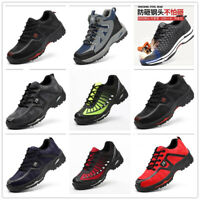 Mens Safety Shoes Fashion Steel Toe Breathable Work Boots Hiking Climbing Shoes