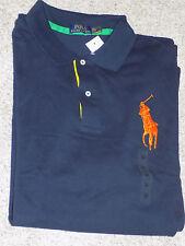 Men's Polo Ralph Lauren Aviator Navy Mesh Polo Shirt Short Sleeve 2XLT Big Pony