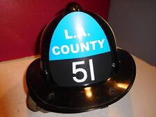"""LA COUNTY  """"EMERGENCY"""" 51  FIRE HELMET-CHET KELLY"""