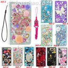 Leather Flip Bling Diamond Wallet Case Girls Cover For SAMSUNG J2 J3 J7 NEO