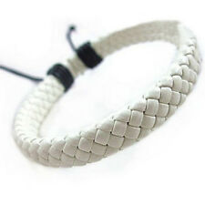 Retro Leather Bracelet Bangle Cuff Rope Black Surfer Wrap Adjustable*~*