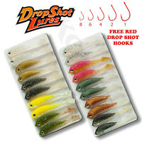 Pike Fishing Soft Lure 10cm 4/'/' Long Curly Tail TwistBait Set 05 Weedless Hooks