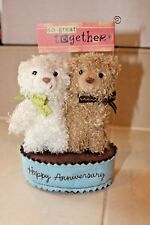 """Hallmark Tender Notions Bears Plush """"Happy Anniversary"""" Tags So Great Together"""