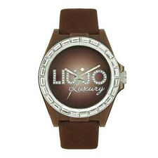 Orologio Donna LIU JO Luxury QUEEN VANISH TLJ243 Pelle Marrone Swarovski DD