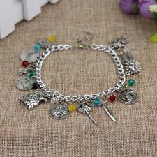 Game of Thrones Charm Bracelet House Nights Watch Stark Metal Silver Bracelet