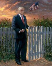 President Donald Trump America's Gate Keeper Borderless 8.5x11 Matte Art Photo