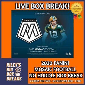 🔥🏈 2020 PANINI MOSAIC NO HUDDLE BOX BREAK #101 - PICK YOUR OWN TEAM! 🔥🏈