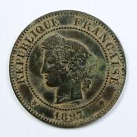Monnaie de Collection France 5 centimes Cérès 1897 A Atelier de Paris