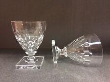 6 verres en cristal Mod. GONDOLE taille écailles. H: 130 mm  Val Saint Lambert